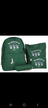 Школьный рюкзак! Набор 4 предметс
