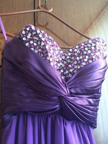 бална дълга рокля с подарък чанта на бершка