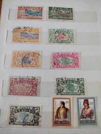 Timbre 1907 colonie franceza Reunion