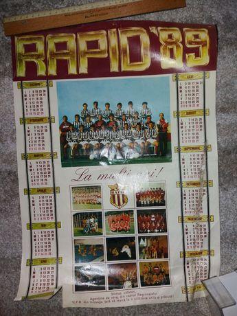 Calendar Rapid Bucuresti '89