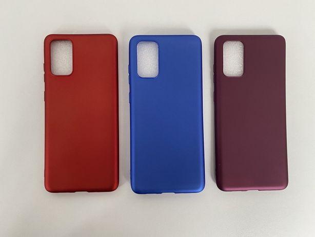 Samsung S20 S20 Plus S20 Ultra - Husa Ultra Slim Silicon Rosie Mov Alb