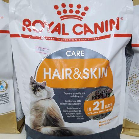 Сухой корм для кошек Роял Канин для красоты кожи и шерсти