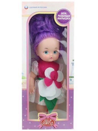 Кукла игровая с нарисованными глазками и мягкими прошитыми волосам