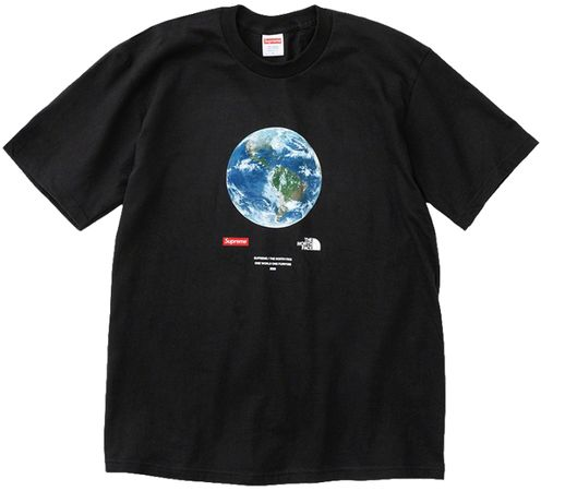 Supreme x The North Face® One World Tee Black Marime L