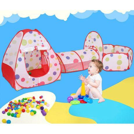 Детская палатка 3 в1 туннель сухой бассейн домик шатер