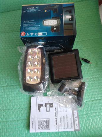 Lampa LED cu panou solar si senzor de miscare