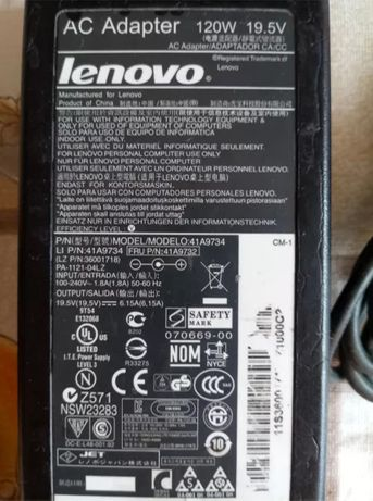 120 W 19,5 вольт 6,15 ампер Зарядка Блок питания Зарядное устройство к