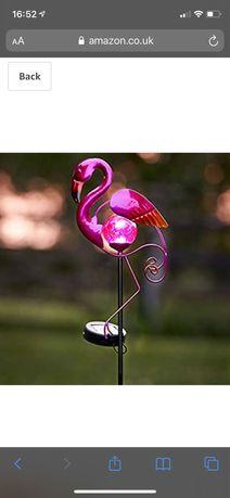 фламинго за градина на слънчеви батерии