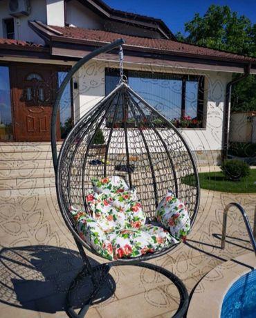 Люлка Ратанова Водоустойчива Morris Тип Гнездо яйце ПРОМОЦИЯ