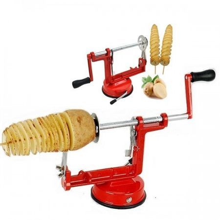 Aparat din inox pentru felia, spiralat cartofi - Spiral Potato Slicer