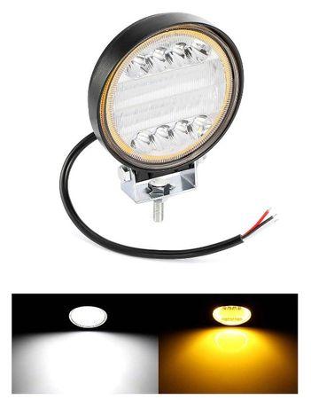 72W LED Диоден Фар Работна Бяла Жълта Светлина Габарит Мъгла Лампа