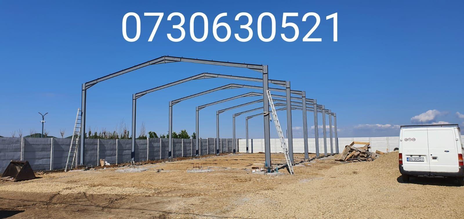 Vând structura metalica 8x20x3 din țeavă rectangulară 80x40x3 Ranforsa