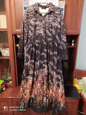 Платье на осень 46-48 размер верх на пуговицах.