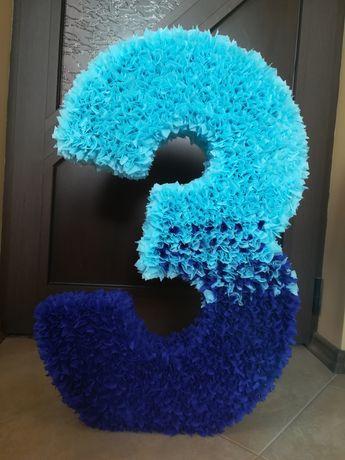 Обемна цифра 3 за рожден ден