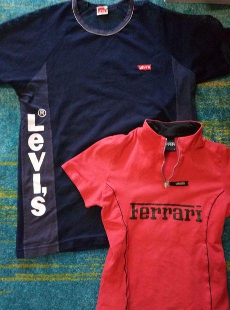 Tricouri Ferrari și Levi's