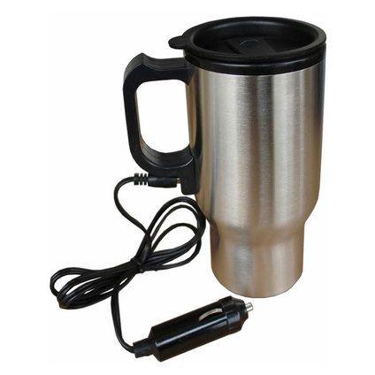 Иноксова термо чаша със захранване на 12 волта за автомобил
