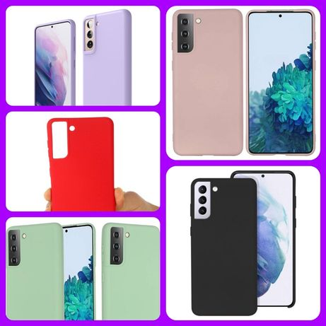 Husa silicon+catifea Samsung S21, S21 Plus, S21 Ultra, Note 20 Ultra