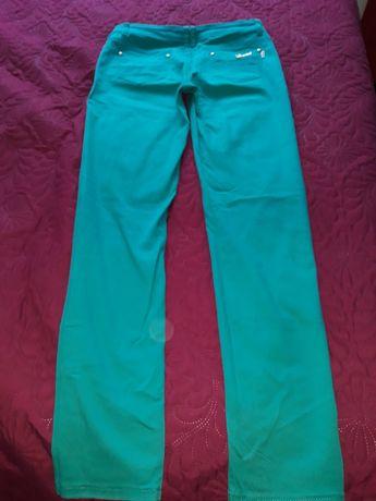 Дамски летен панталон, еластичен, цвят елуктрикаво зелен