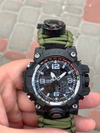 Мъжки военен аналогов, дигитателен часовник Kemstone компас кремък, те