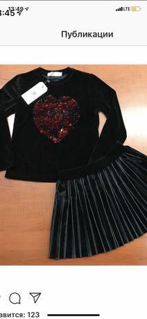 Нарядный велюровый костюм, нарядный комплект для девочек