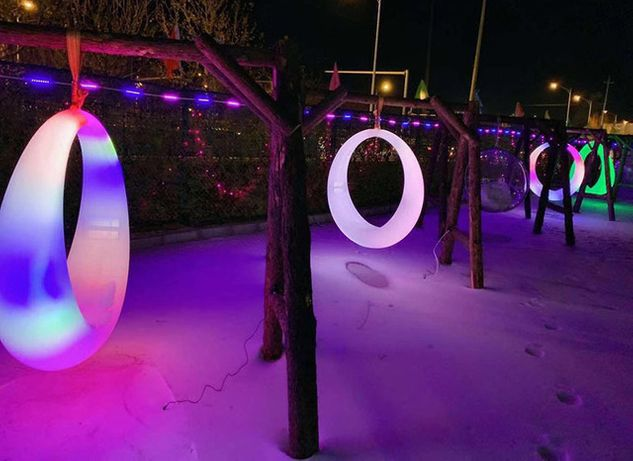 Светящиеся качели LED, КРАСОТА, мебель с подсветкой
