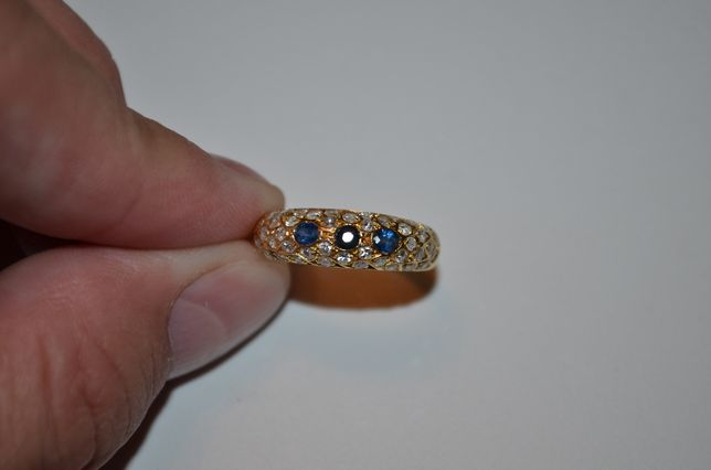 INEL AUR 18K + 42 Diamante =0.42ct. + 3 Safire =0.30ct. -Tip Verigheta