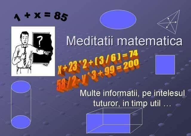 Meditatii Matematica Targu Jiu