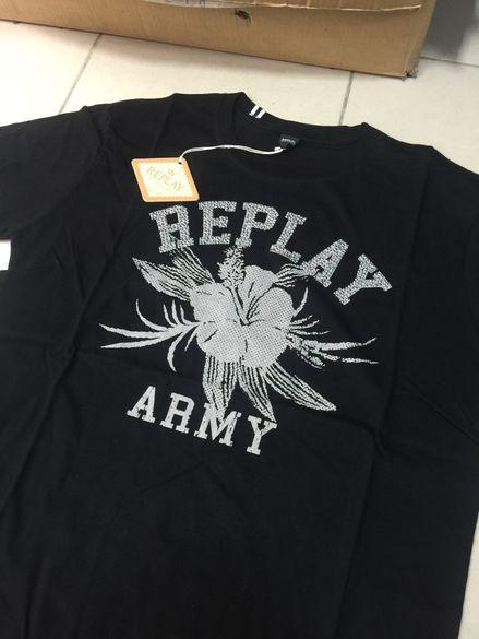 Мъжка тениска Replay ARMY *L-XL