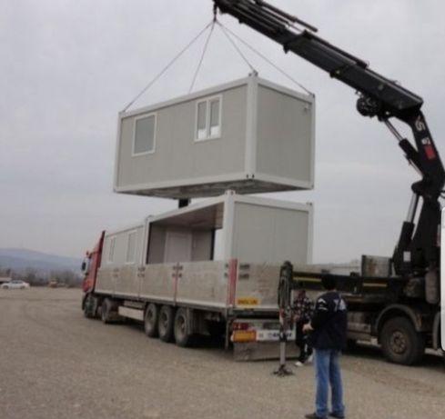 Vând container de pe stoc 2,40x 6 x2 =3600 e si căsute case