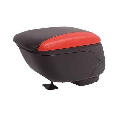 Универсална черна + червена конзола ,Подлакътник с плъзгаща опора,