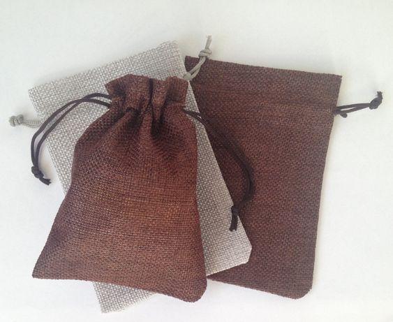 Ленени торбички кесийки за подаръци, лавандула, бижута, сватбено тър-о