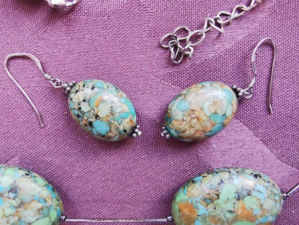 Set bijuterii pietre semiprețioase verzi