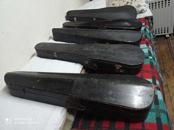 1763г. Много стари цигулки във дървени куфъри !