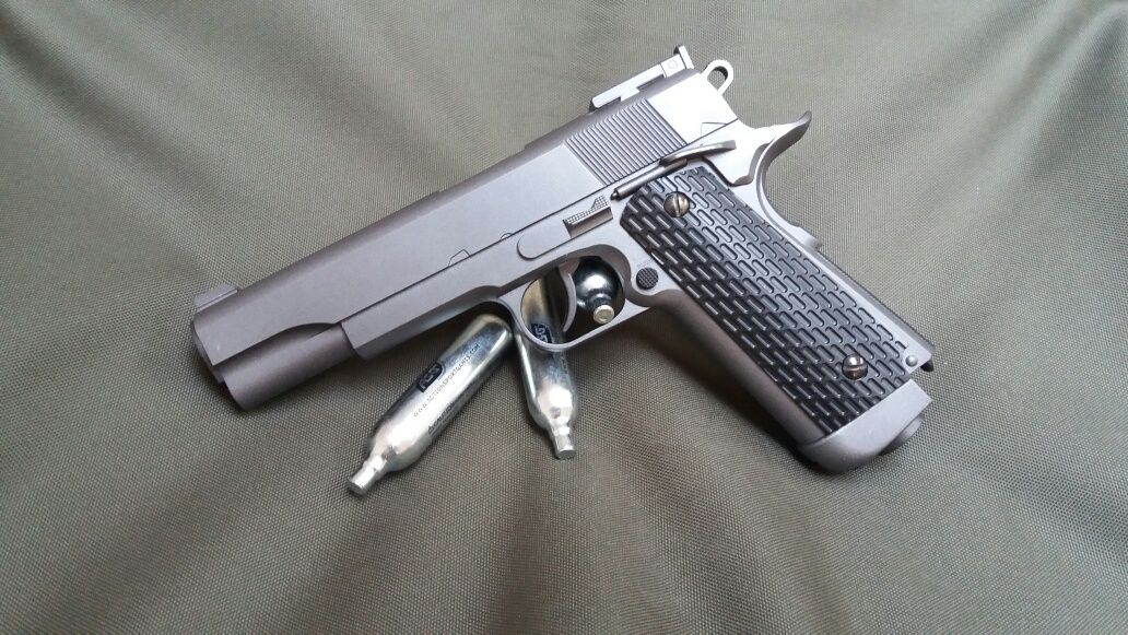 Reducere PUTERNIC upgradat 4.5j Colt pistol airsoft Full Metal walther