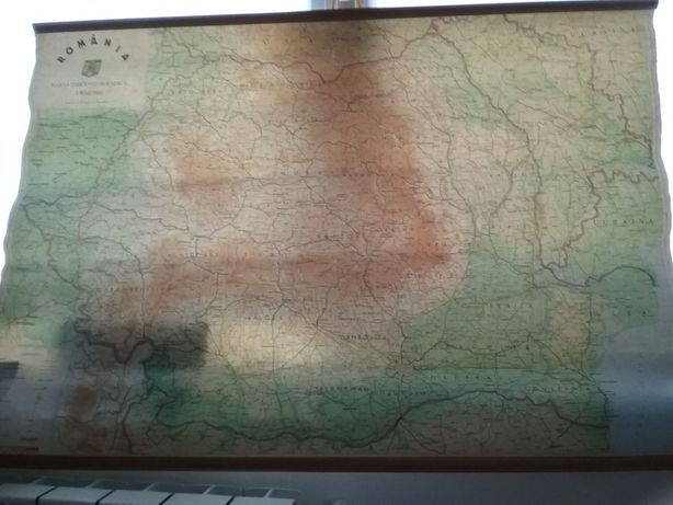 Harta fizica Romania