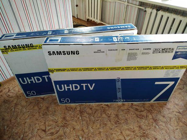 Смарт 4K Самсунг '50'NU7090. Новый на гарантии ! 125 см. ОТАУ ТВ.