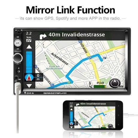NAVIGATIE Universala 2DIN Player auto Mp5 7010b 7 inch Mirrorlink NOUA