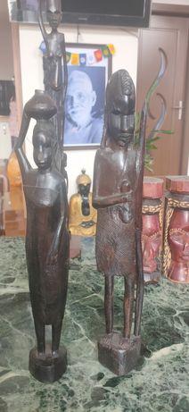 Set statui artă africana din abanos 36-38 cm statuie