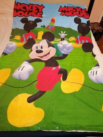 Lot lenjerii pat pentru copii bumbac ranforce Mikey, Mașa și Ursul,