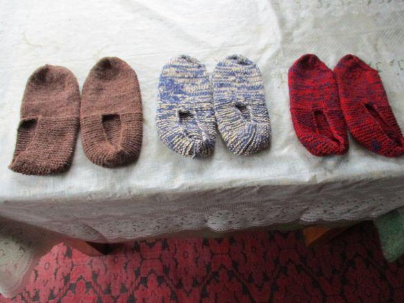 дамски терлици плетени нови три чифта