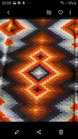 """Covor oltenesc din lana pura,,valurile"""",200/170 cm,lucrat manual"""