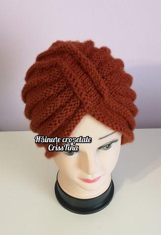 Turban tricotat manual