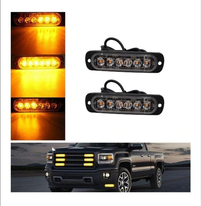 Set Lampi Stroboscopice 6 LED-uri Auto Moto Utilaje Agabaritic Gabarit Bucuresti - imagine 1