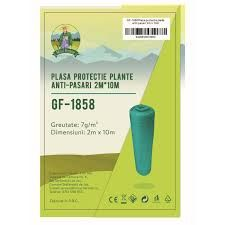 Plasa protectie plante anti-pasari 2x10m 7g/m2 Micul Fermier