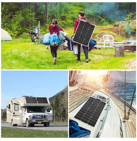 Transport gratuit! Kit Panou solar 100W + controller camping / pescuit