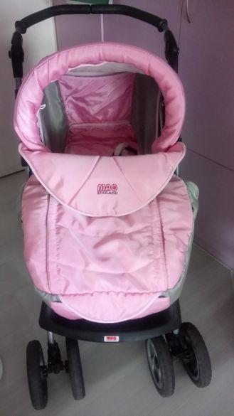 Бебешка количка 2 в 1 - зимна и лятна с амортисьори на MAG