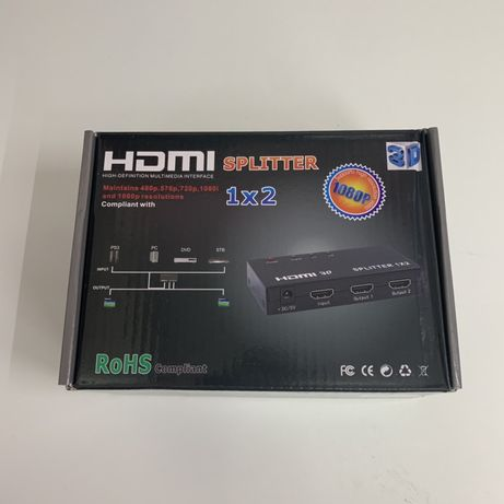 HDMI сплиттер 1x2 / 1x4 / 1x8 разветвитель делитель сплитер splitter
