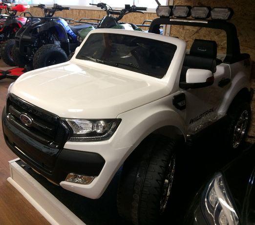 Masinuta electrica pentru 2 Copii Ford Ranger F650 cu Bluetooth #Alb