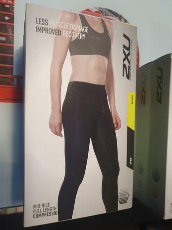 Pantaloni compresie 2xu colanti alergare sport femei