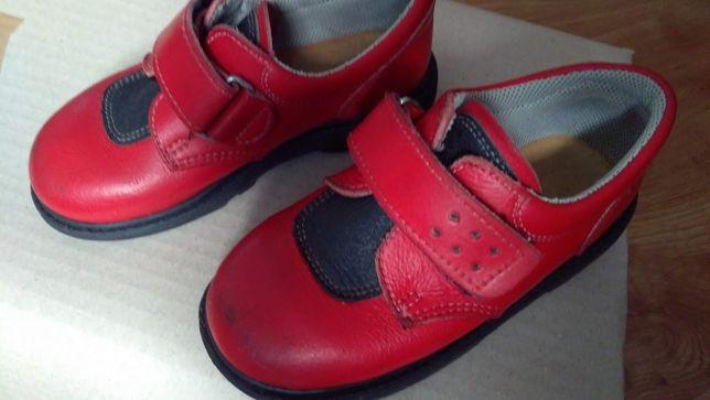 Pantofi din piele naturala, rosii, nr. 27, UTILIZATI